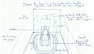 Stargate Chair as drawn by Willaim Ross