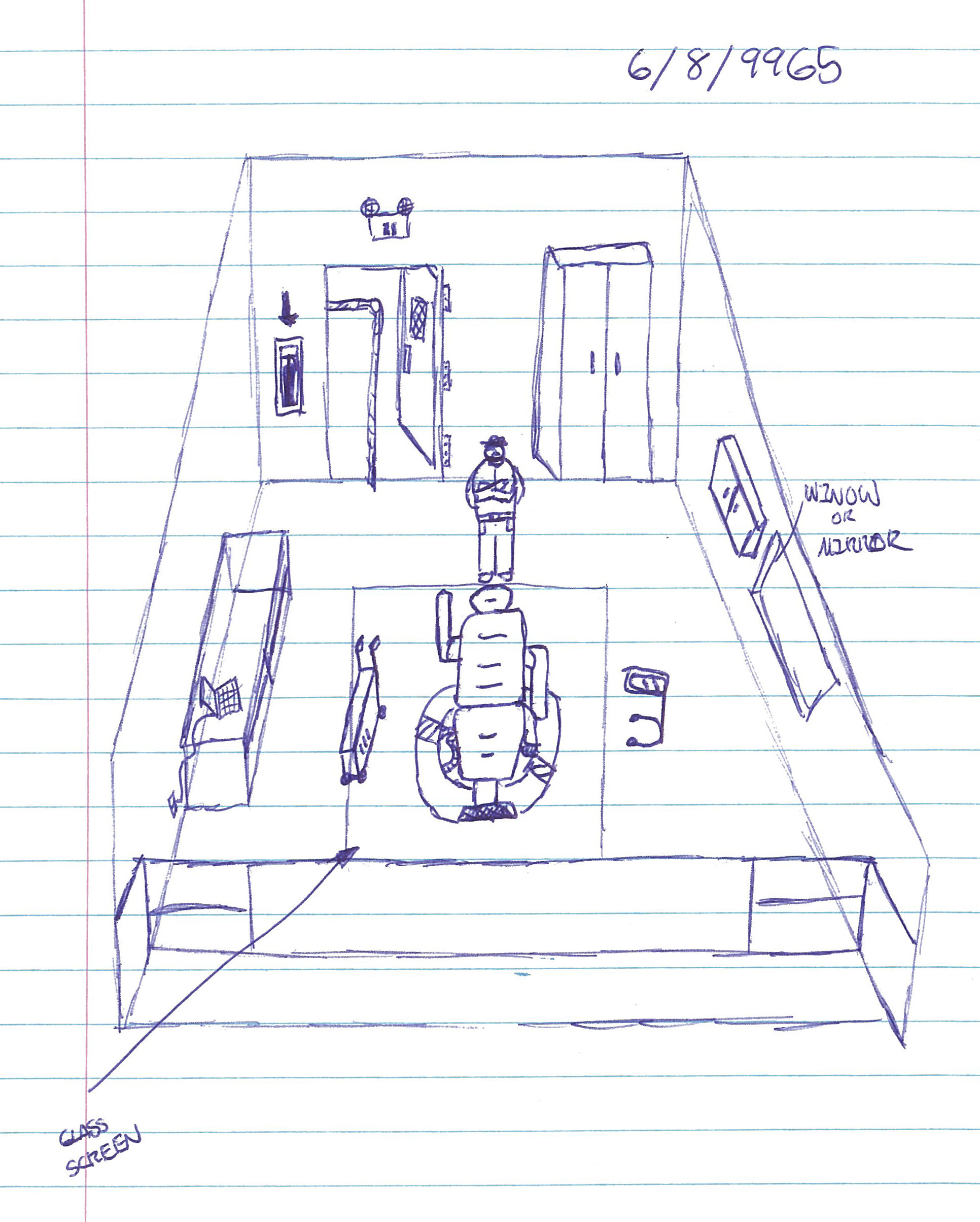 Trip Seat as drawn by Tyler Clark