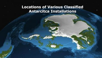 Locations of Various Classified Antarctica Installations