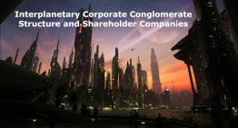 Interplanetary Corporate Conglomerate Structure and Shareholder Companies