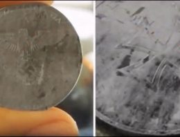 Nazi coin from 'future' FOUND – A coin discovered from a parallel universe found in our timeline