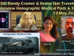 FESIG Randy Cramer and Ileana Star Traveler Interview Holographic Medical Pods & SSP
