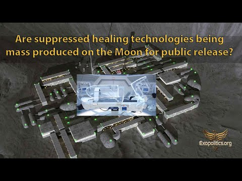 Are suppressed healing technologies being mass produced on the Moon for public release?