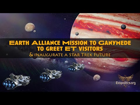 Earth Alliance Mission to Ganymede to greet ET visitors & inaugurate a Star Trek Future